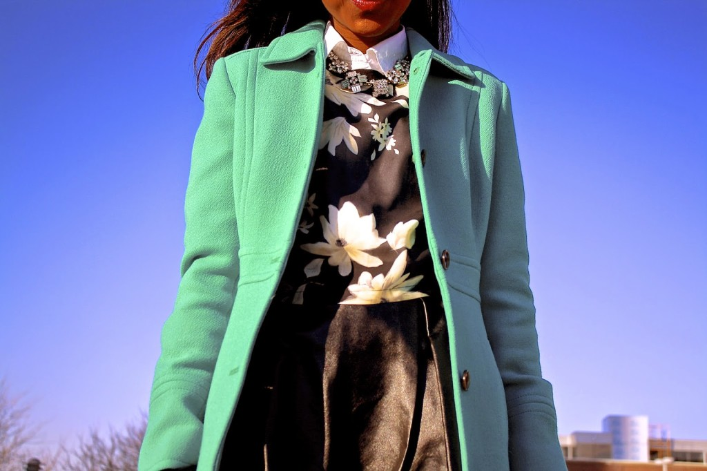 One of my favorite ways of introducing color into my early spring wardrobe is with floral prints and a fun coat like this one from jcrew.  www.amileinmychoos.com