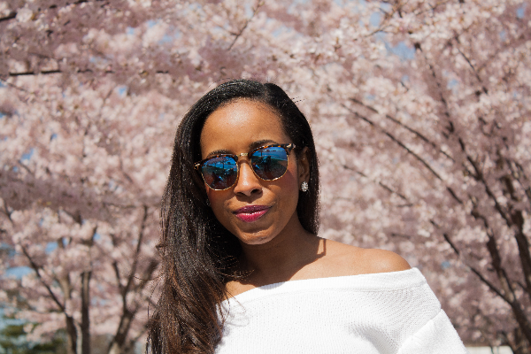 Cherry blossoms call for floral prints