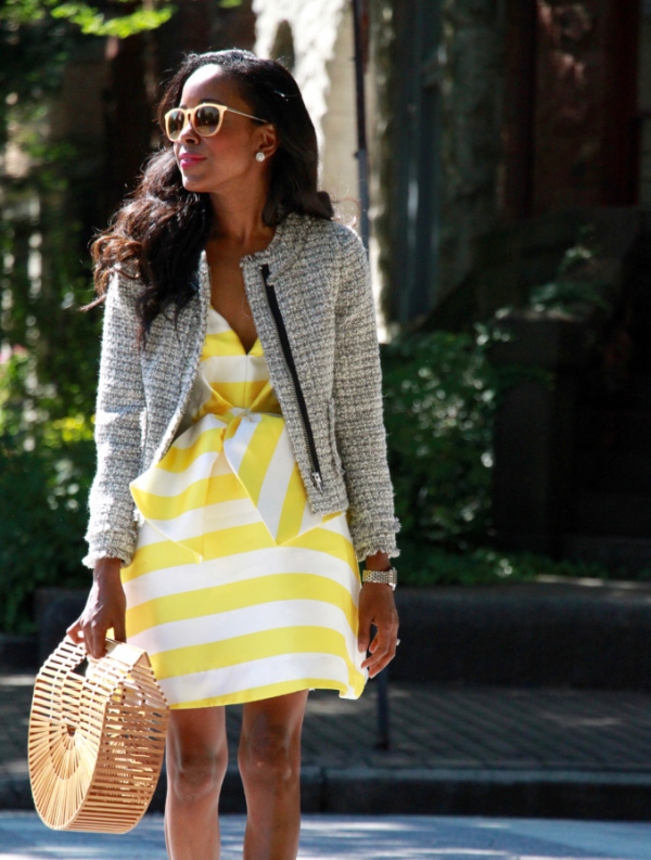 Out and about in bows and stripes
