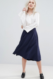 French Connection Rikki Crepe Flared Skirt