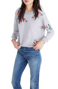 Madwell Embroidered Crop Sweatshirt