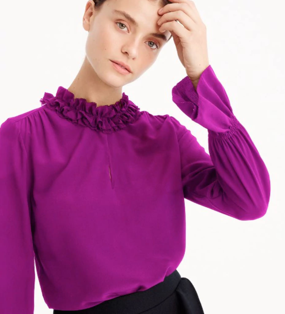 Ruffle Neck from JCrew -- Holiday styling tips
